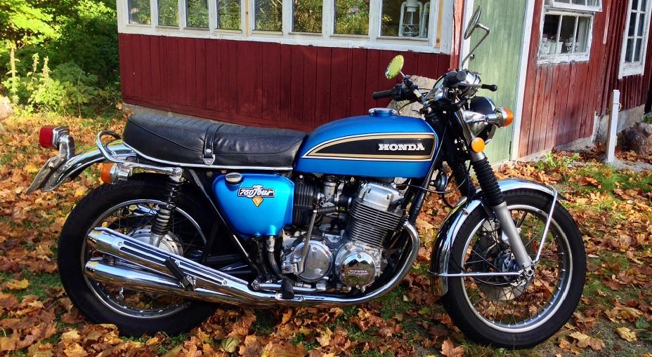 Min CB750 i Sverige